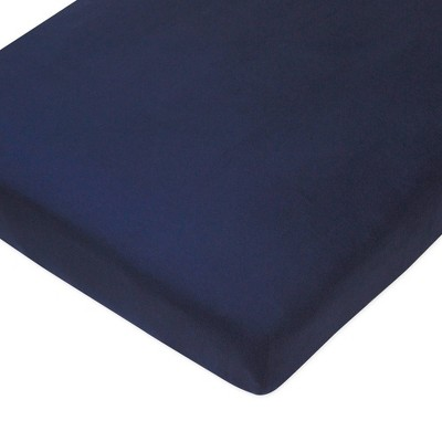 Honest Baby Organic Cotton Fitted Crib Sheet - Navy