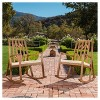 Nuna Set of 2 Acacia Wood Rocking Chair With Cushion - Off-White - Christopher Knight Home - image 2 of 4