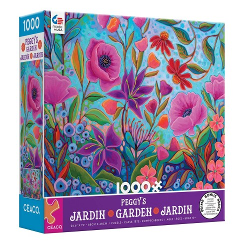 Ceaco Peggy's Garden: Colorful Conversation Jigsaw Puzzle - 1000pc - image 1 of 3