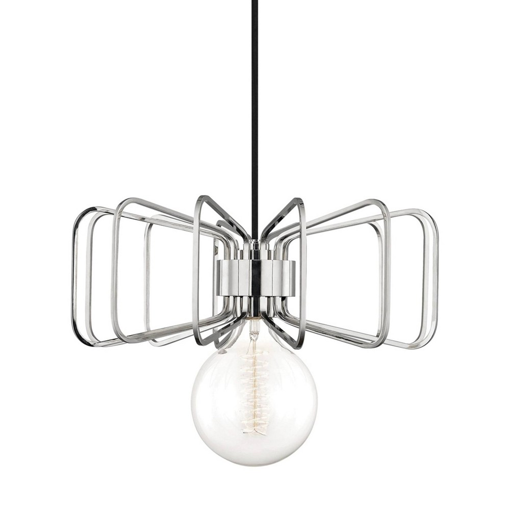Daisy 1-Light Pendant Chandelier Brushed Nickel - Mitzi by Hudson Valley Price
