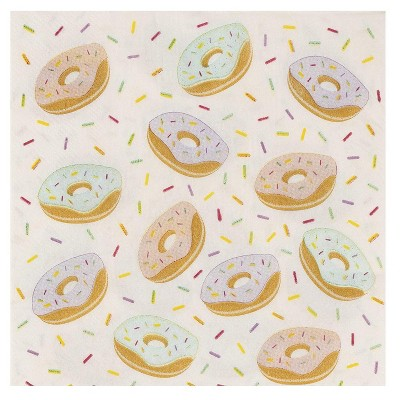 Blue Panda 150-Pack Donut Disposable Paper Napkins Kids Birthday Party Supplies