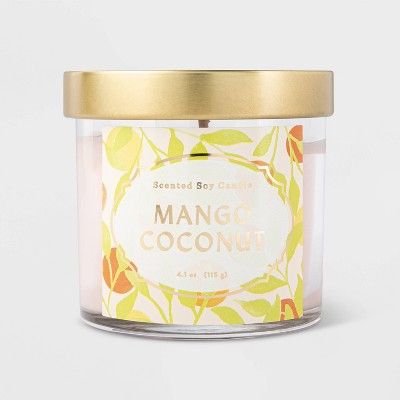 4.1oz Lidded Glass Mango Coconut Candle - Opalhouse™