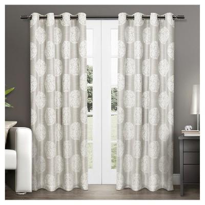 Set of 2 Akola Light Filtering Window Curtain Panels - Exclusive Home