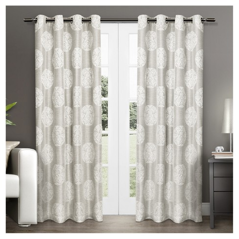 54 X 108 Set Of 2 Akola Light Filtering Window Curtain Panels Dove Gray Exclusive Home