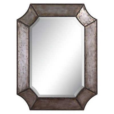 Rectangle Elliot Distressed Aluminum Decorative Wall Mirror - Uttermost