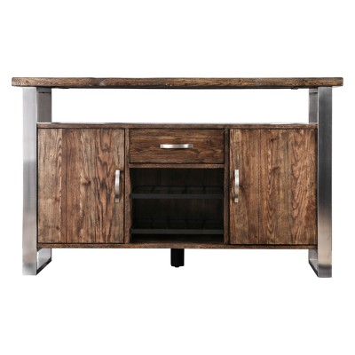 Iohomes Larimore Rustic Style Dining Server Table Oak - HOMES: Inside + Out