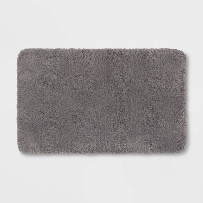 "23""x37"" Performance Nylon Bath Rug Dark Gray - Threshold™"