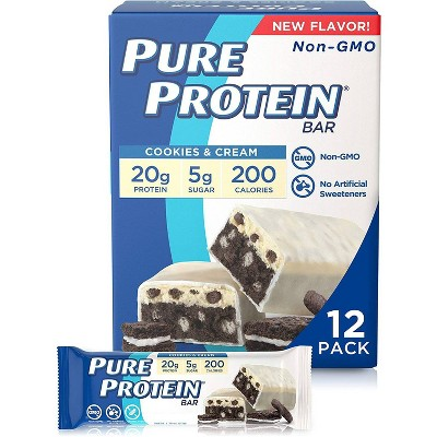 Pure Protein Nutrition Bar - Cookies & Cream - 12ct