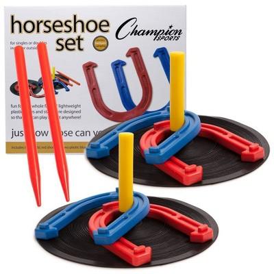 Champion Sports Rubber Horseshoes Set