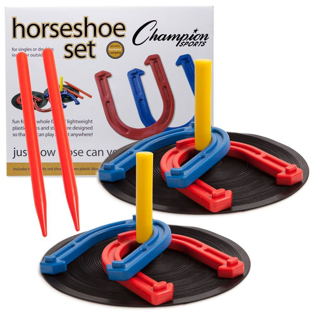 Image of Champion Sports Rubber Horseshoes Set