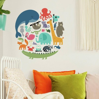 RoomMates We Are One Animal Peel and Stick Wall Decal