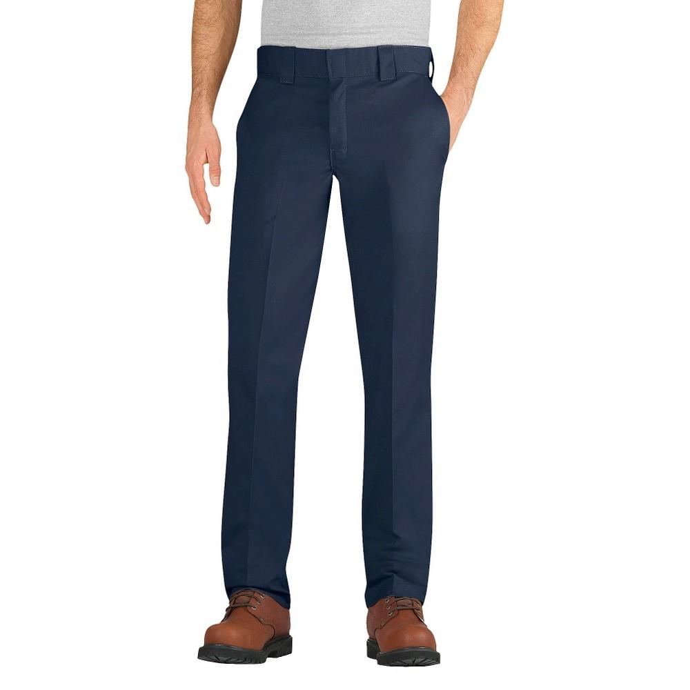 Dickies Men's Slim Taper Fit Twill Pants- Dark Navy 38X32