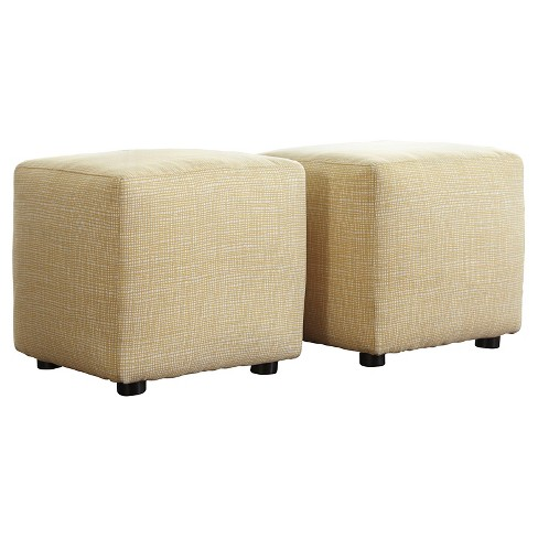 Chamberly Cube Ottoman Buttercup (Set of 2) - Signature Design by Ashley - image 1 of 4