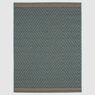 Azure Textured Diamond Outdoor Rug - 5'x7' - Smith & Hawken™