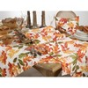 """65"""" X 104"""" Embroidered Autumn Leaves Tablecloth - SARO Lifestyle - image 3 of 3"""