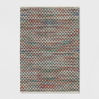 Striped Blue Diamond Woven Area Rug 5'X7' - Opalhouse™