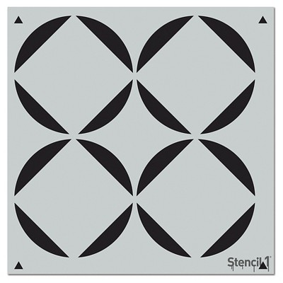 """Stencil1 Rounded Squares Repeating - Wall Stencil 11"""" x 11"""""""