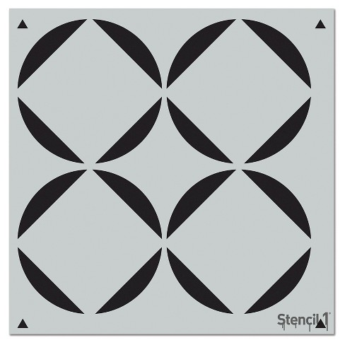 "Stencil1® Rounded Squares Repeating - Wall Stencil 11"" x 11"" - image 1 of 3"