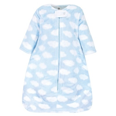 Hudson Baby Infant Boy Plush Sleeping Bag, Sack, Blanket, Blue Clouds