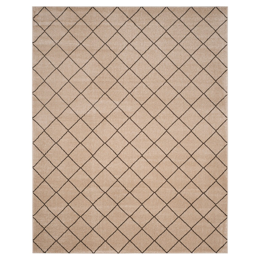 Creme/Brown Geometric Loomed Area Rug - (9'X12') - Safavieh