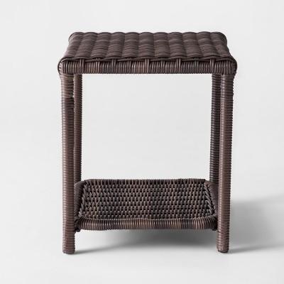 Monroe Wicker Patio Side Table - Threshold™