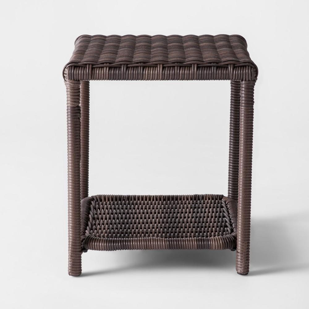 Monroe Wicker Patio Side Table Threshold 8482