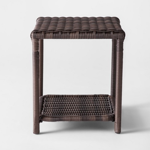 Monroe Wicker Patio Side Table Threshold