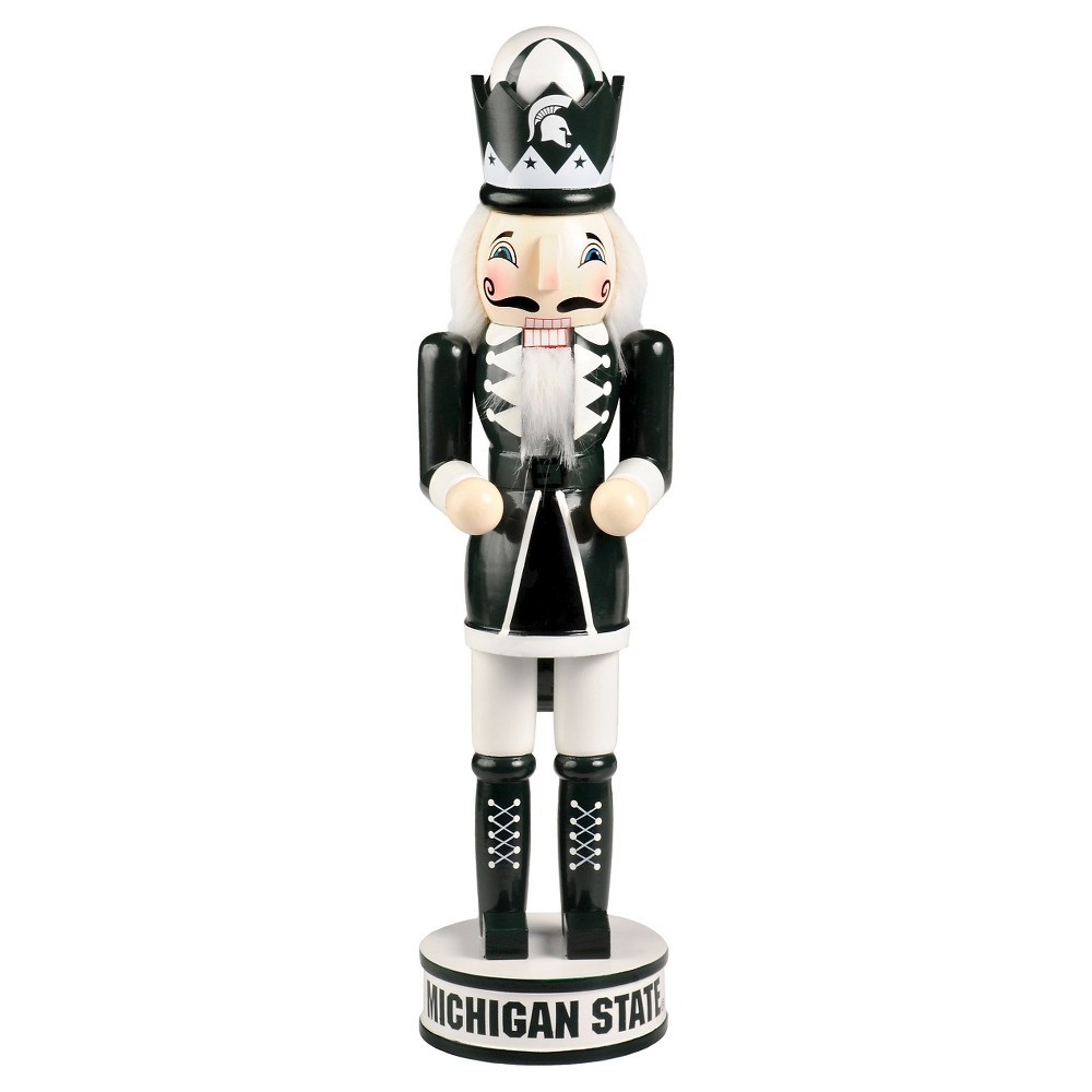 NCAA Decorative Holiday Nutcracker Forever Collectibles Michigan State Spartans