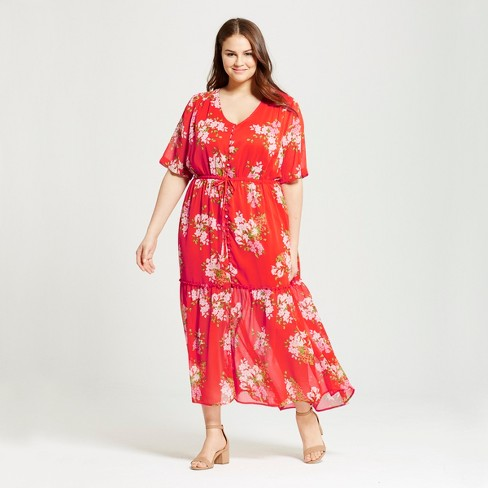 Women's Plus Size Tiered Maxi Dress - Who What Wear ™ - image 1 of 3