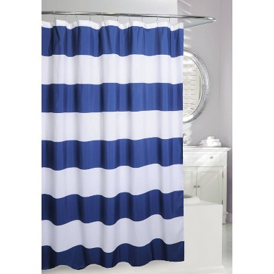 Rail Striped Shower Curtain Navy - Moda at Home