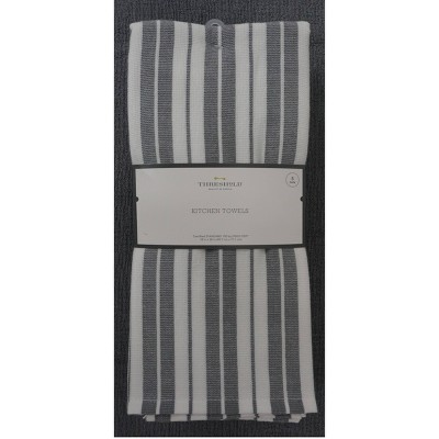 5pk Cotton Kitchen Towels Gray - Threshold™