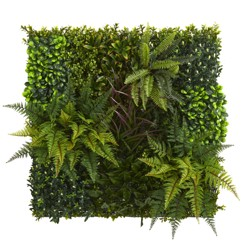 """29"""" X 29"""" Artificial Green Wall - Nearly Natural"""