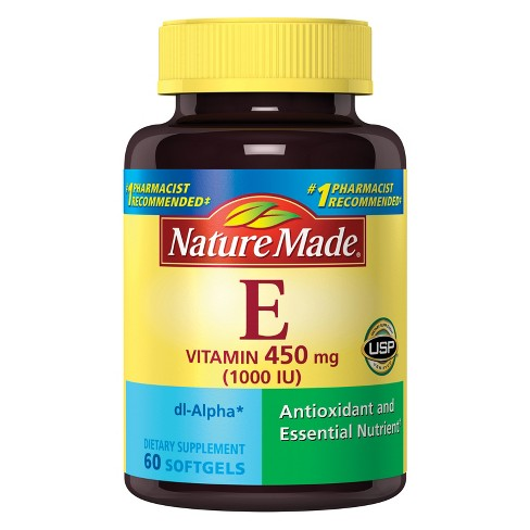 Nature Made Vitamin E Dietary Supplement Liquid Softgels - 60ct - image 1 of 3