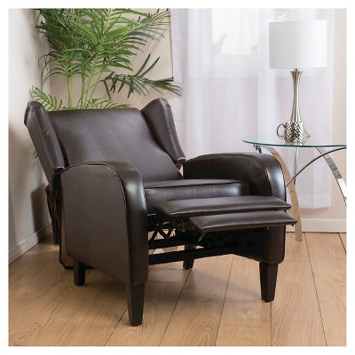 Delicieux Carter Wing Back Bonded Leather Recliner Chair Brown   Christopher Knight  Home : Target