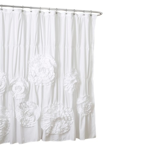 Lush Decor Serena Flower Texture Shower Curtain