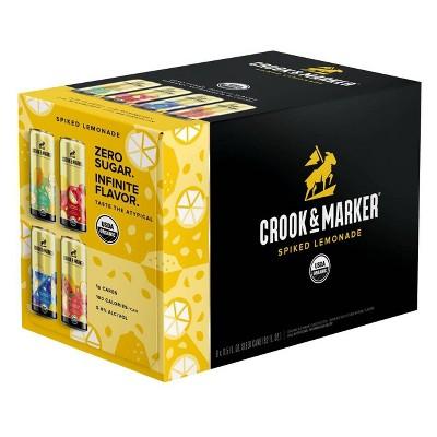 Crook & Marker Spiked Lemonade - 8pk/11.5 fl oz Cans