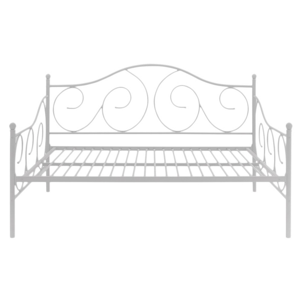 Twin Vanessa Metal Daybed White - Room & Joy