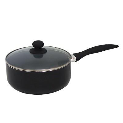 Gourmet Chef 3 Fl Qt Eco Friendly Non Stick Ceramic Sauce Pan - Black