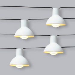 10ct Premium Outdoor String Lights White/Gold Hood Filament - Project 62™