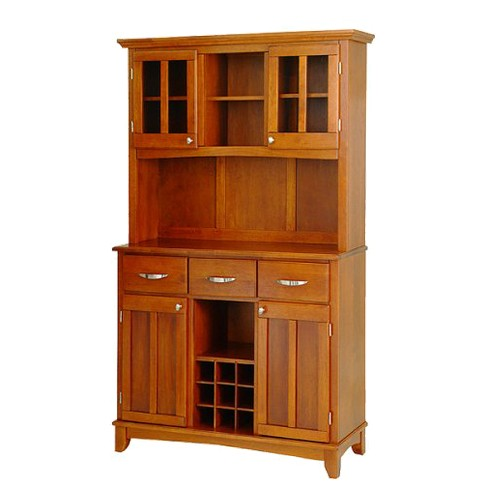 Buffet with 2 Door Hutch Wood/Oak - Home Styles - image 1 of 1