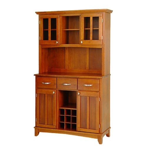 Buffet with 2 Door Hutch Wood/Oak - Home Styles