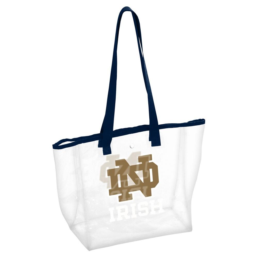 NCAALogo Brands PVC Stadium Tote Bag Notre Dame Fighting Irish, Adult Unisex