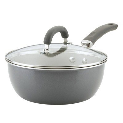 Rachael Ray Create Delicious 3qt Everyday Pan Gray Shimmer