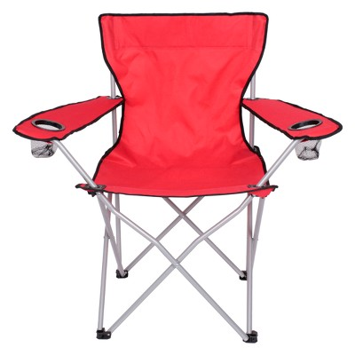 Evergreen Adult Basic Camp Chair - Red