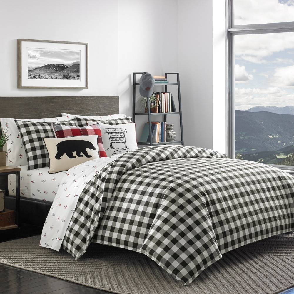 Image of Black Mountain Plaid Comforter Set (Twin) - Eddie Bauer