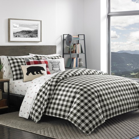 Black Mountain Plaid Comforter Set - Eddie Bauer - image 1 of 4