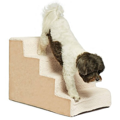Precious Tails High Density Foam 4 Steps Sherpa Dog Stairs