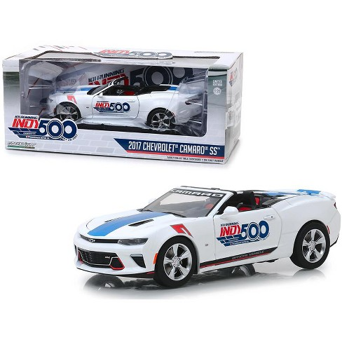 """2017 Chevrolet Camaro SS Convertible White """"101 Running Indy 500 Presented"""" 1/24 Diecast Model Car by Greenlight - image 1 of 2"""