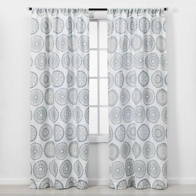 2pc 84 x40  Light Filtering Window Curtain Panel Blue - Threshold™
