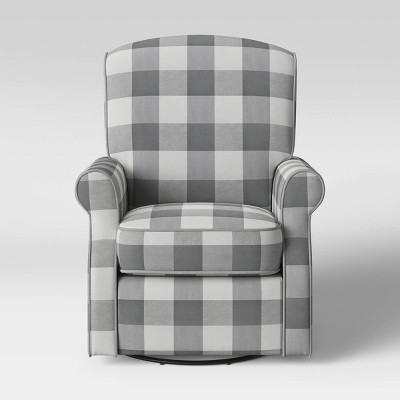 Delta Children Oakley Nursery Glider Swivel Rocker Chair - Gray Plaid